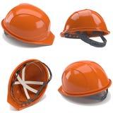 Orange hard hat.3d.Collage. Royalty Free Stock Photo