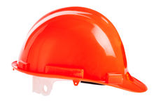 Orange hard hat Stock Images