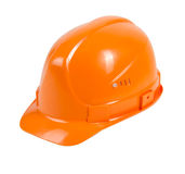 Orange hard hat Stock Photos