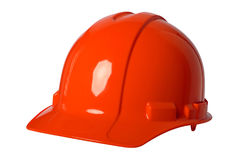 Orange Hard Hat. Isolated over white background royalty free stock image