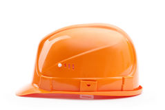 Orange hard hat in profile Stock Images