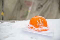 Orange hard hat. Stock Images