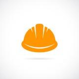 Orange hard hat vector icon Royalty Free Stock Photos