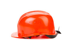 Orange hard hat. Royalty Free Stock Photography