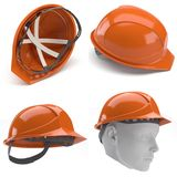 Orange harter Hut 3d Lizenzfreies Stockbild