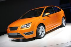 Orange hatchback Royalty Free Stock Photos