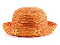 Orange hatt Arkivbild