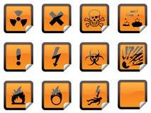 Orange Hazardous Stickers Royalty Free Stock Images