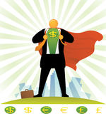 Orange Head_Currency Super Hero Royalty Free Stock Image