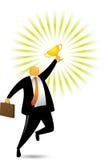 Orange Head Man Getting Award Stock Photography