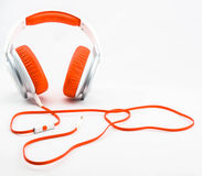 Orange Headphone. On white background Royalty Free Stock Image