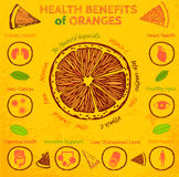 Orange Health Benefits Royalty Free Stock Images
