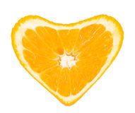 Orange heart. Isolated on white Royalty Free Stock Image