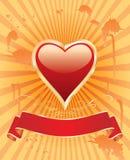 Orange heart Stock Image
