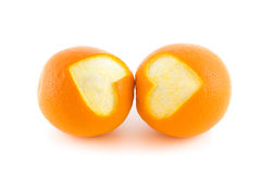Orange heart Stock Photos