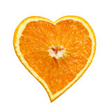 Orange heart Stock Image
