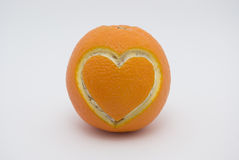 Orange heart Stock Photo