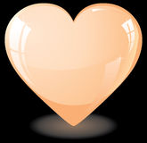 Orange heart Royalty Free Stock Images