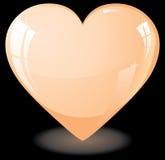 Orange heart Royalty Free Stock Images