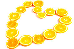 Orange heart Royalty Free Stock Photography