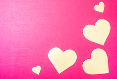 Orange heart. On a pink background Royalty Free Stock Photo