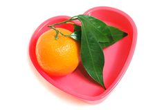 Orange in the heart Royalty Free Stock Image