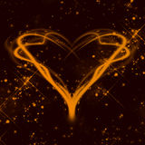 Orange heart. Abstract background red heart valentine's day Stock Photo