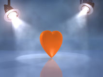 Orange heart Royalty Free Stock Photo