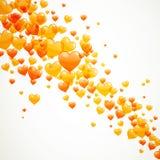 Orange Heart Balloons Royalty Free Stock Image