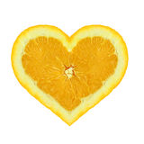 Orange heart Royalty Free Stock Photography