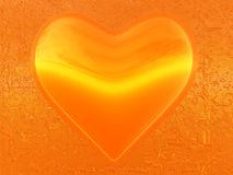 Orange heart of love Royalty Free Stock Images