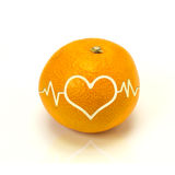 Orange heart shape Royalty Free Stock Photo