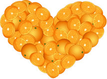Orange Heart Shaped Stock Photography