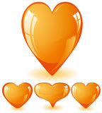 Orange hearts Royalty Free Stock Photos
