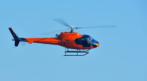Orange Helicopter Royalty Free Stock Photography