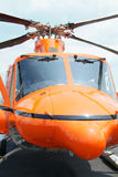 Orange helicopter Royalty Free Stock Images
