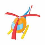 Orange helicopter icon, cartoon style Royalty Free Stock Photo