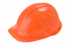 Orange helmet Royalty Free Stock Image