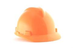 Orange helmet isolated on white Stock Photography
