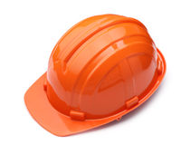 Orange helmet isolated Stock Photography