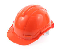 Orange helmet Stock Photo