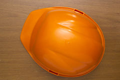 Orange helmet Stock Images