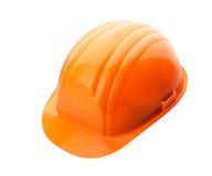 Orange helmet on white Stock Photography