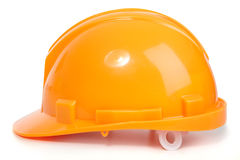 The orange helmet Stock Image