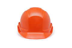 Orange helmet work on a white background Royalty Free Stock Photos
