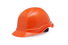 Orange helmet work on a white background Royalty Free Stock Images