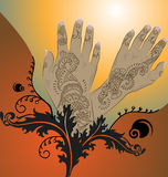 Orange Henna Illustration Stock Images