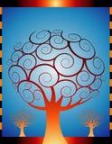 Orange Herbstbäume Lizenzfreie Stockfotos