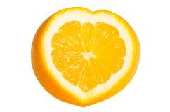 Orange Herz geformt lizenzfreie stockfotografie