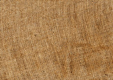 Orange hessian sack cloth texture. Stock Photo